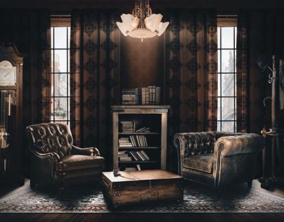 Manipulação de imagem - Sherlock Holmes' living room