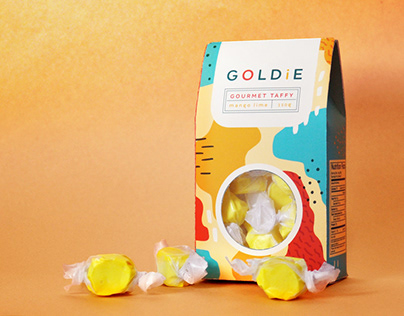 Goldie Taffy Package Design