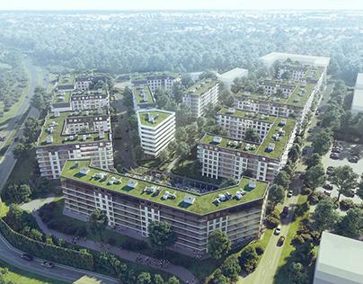New housing in Warsaw,