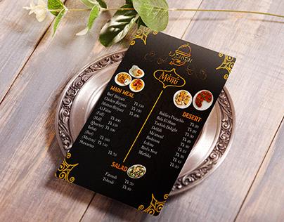 Arabian Restaurant Food Menu