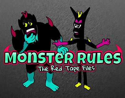 (Humor) Monster Rules Comic Character / Logo Design