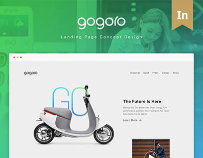 Gogoro landing page concept