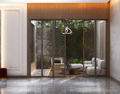 Simple in door garden design in Kuwait City