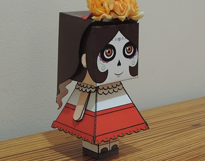 PaperToy Caveira Mexicana Teresa