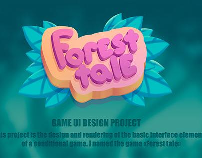 Forest tale UI design