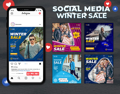 Winter Sale Social Media Post Design