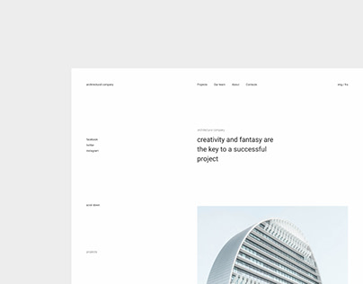 Architectural company - new website