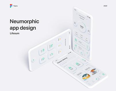 Lifesum - Neumorphism app concept