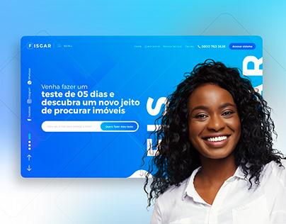 Project Fisgar - Landing page design and UX/UI design