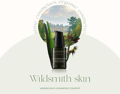Wildsmith skin nature cosmetics web design concept