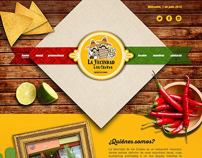 Diseño web Vecindad de los Cuates