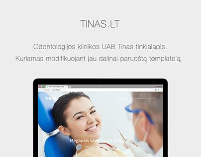 """Odontologijos klinikos """"Tinas"""" internetinis tinklalapis"""