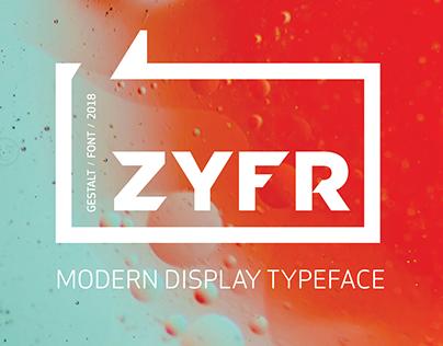 ZYFR - FONT // by GESTALT