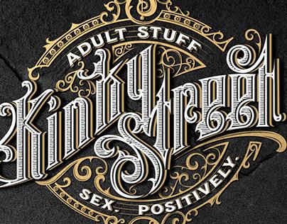 Kinky Street handwritten logo design