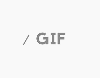 Gif tipográfico.