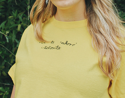 Embroidered Cropped Tee