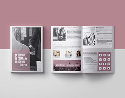 "Business Bi-fold Brochure - ""Creative Company """