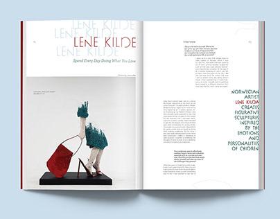 Artist Interview Magazine Layout