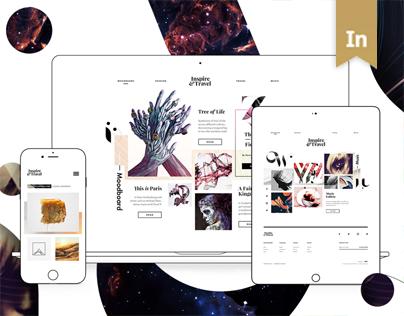 Inspire and Travel — Digital Magazine Website