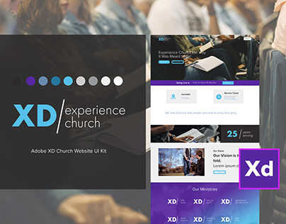 XD Experience Church UI/UX Website Theme For Adobe XD