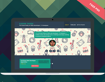 Timeliner - User profile - Free PSD