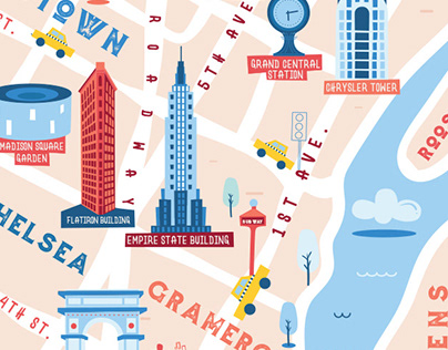 Illustrated map for Coppelia NYC