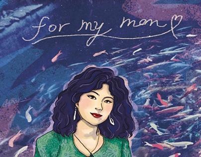媽媽和鯉魚池_For My Mom_Character illustration