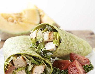 Grilled Chicken Caesar Salad Wrap - Annie Hurwich