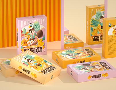 尚智×爸爸糖 | 凤凰酥/绿豆糕/蛋卷系列包装设计