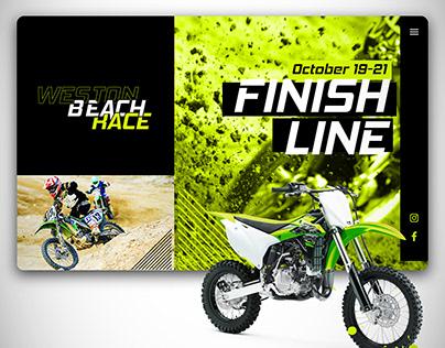 Weston Beach Race - Website Re-Brand Concept