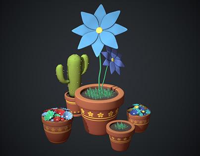3D Stylized Flowers