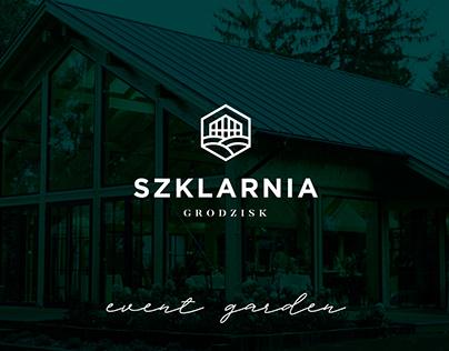 SZKLARNIA event garden I branding