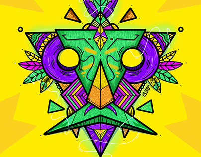 Freedom Mask Xamã - Illustration