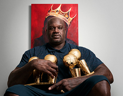Shaquille O'Neal with George Evan Photography