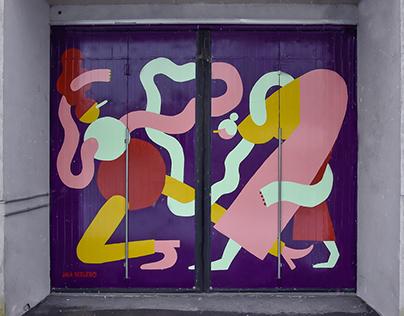 Mural at TV4
