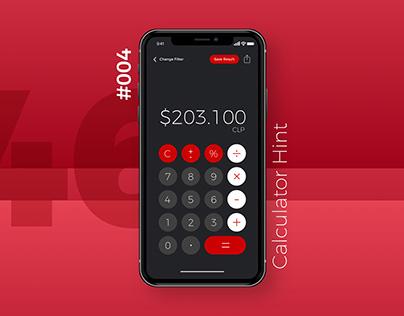 Daily UI #004 - Calculator Hint