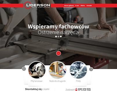 Projekt strony internetowej dla firmy Liderson