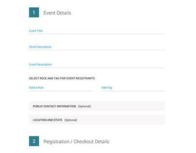 Clean Event Creation UI