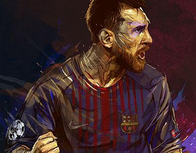 FC Barcelona Portraits- Messi/ Iniesta/ Coutinho.