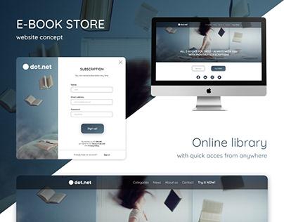 e-book store (website concept)