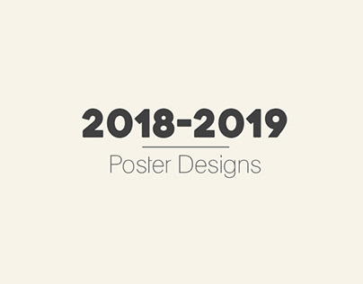 2018-2019 POSTER DESIGNS