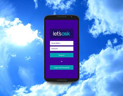 Let's Ask App Branding, UI, Web & Merchandise