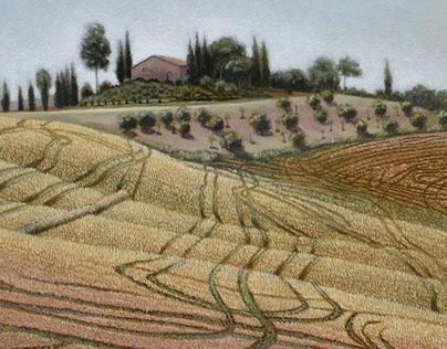 Tuscan Landscape: Le Crete