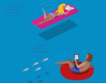 Summer readings illustrations