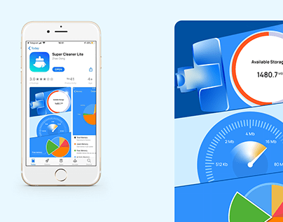 Super Cleaner Lite. App Store First Screen