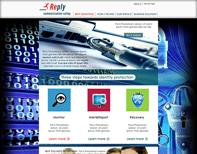 Poìroposal of a Web Layout for a security agency