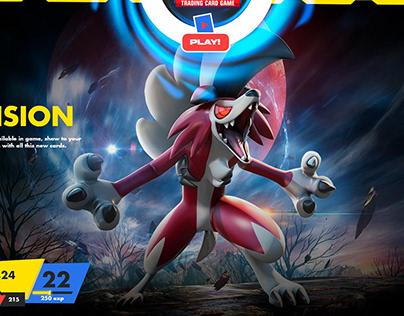 Pokemon TCG UX / UI splash page redesign