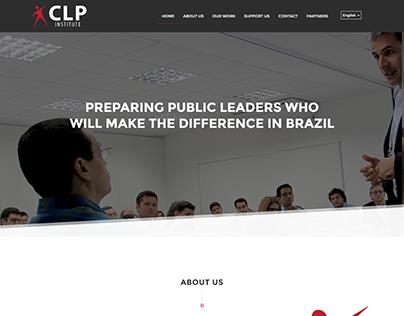 site institucional para a CLP INSTITUTE