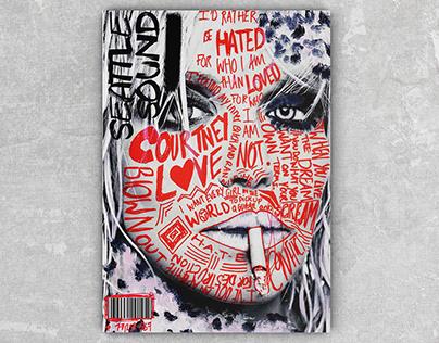 Concept Grunge Music Magazine, Editorial Design