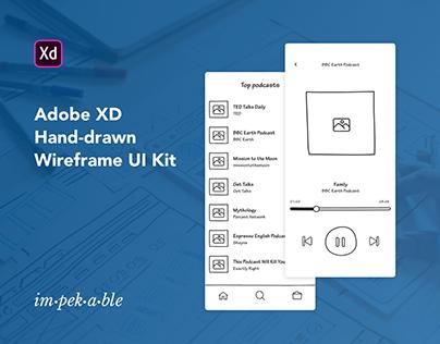 Hand-drawn Wireframe UI Kit for Adobe XD